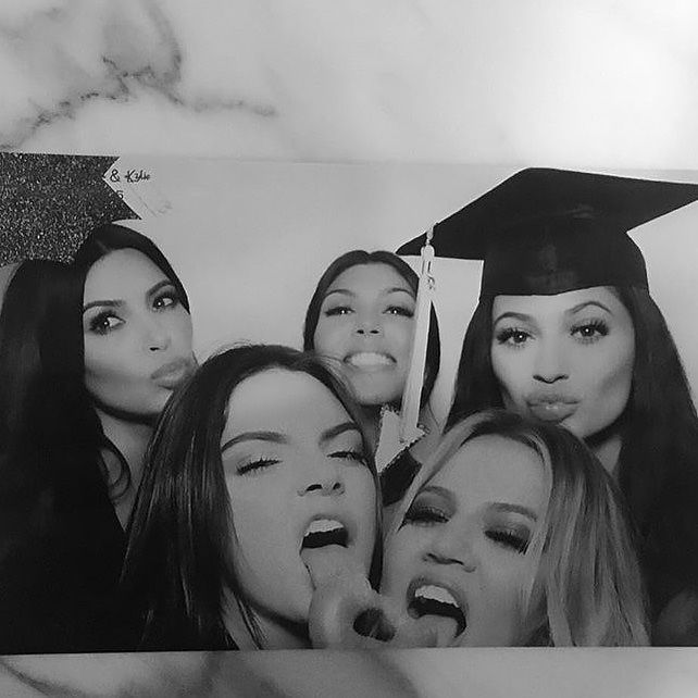Kris Jener threw Kendall and Kylie the ultimate high school graduation party. See all of the snaps from the bash.