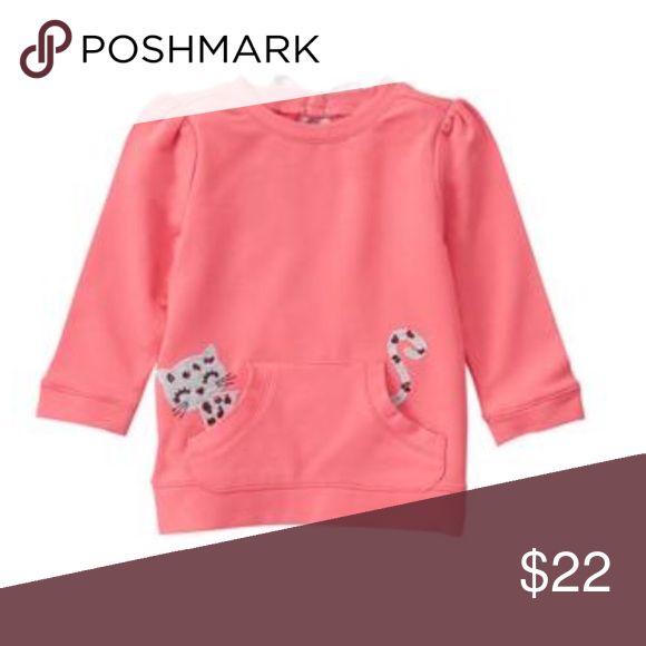 Leopard pullover Brand new! Worn once! Gymboree Shirts & Tops Sweatshirts & Hoodies