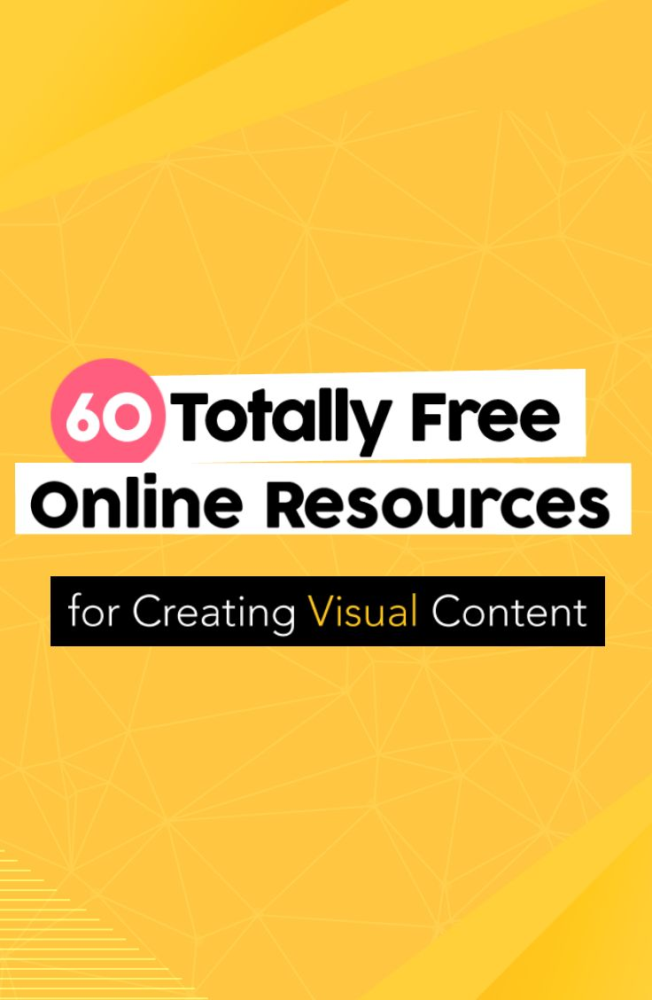 Visual content resources for non-designers! Here are 60 totally free design resources!