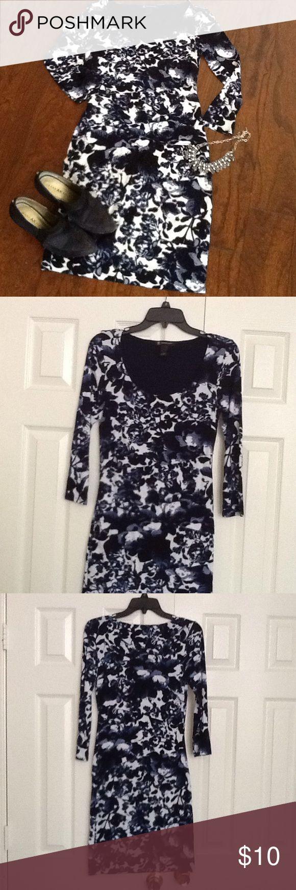 Blue flowered Inc dress Cute little flowered dress Inc INC International Concepts Dresses Midi