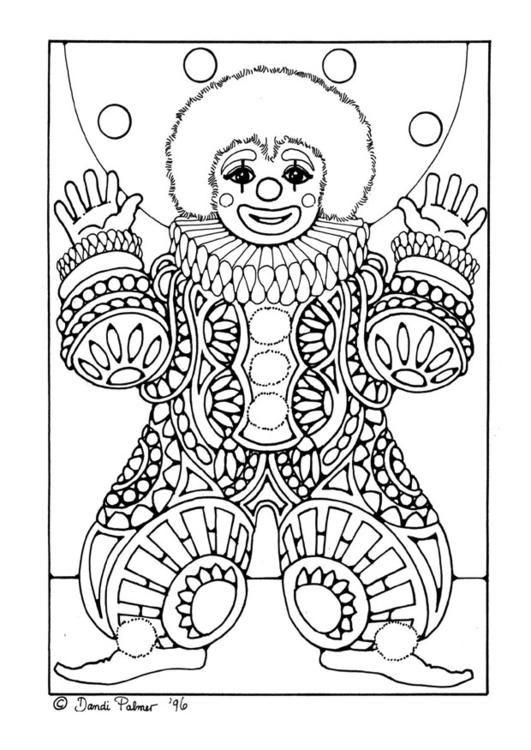 Clown Coloring Page By Dandi Palmer - (edupics)