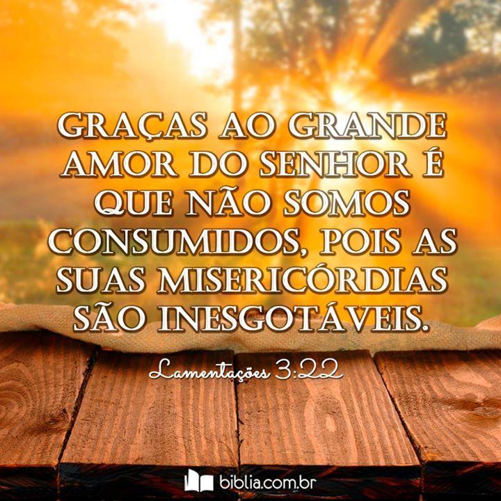 Graças ao grande amor do Senhor é que não somos consumidos, pois as suas misericórdias são inesgotáveis. #misericórdia #graça #perdão