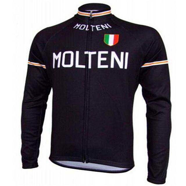 Molteni ciclismo ropa hombre invierno winter thermal fleece larga jersey ciclismo maillot sólo 2016 mtb clothing #85