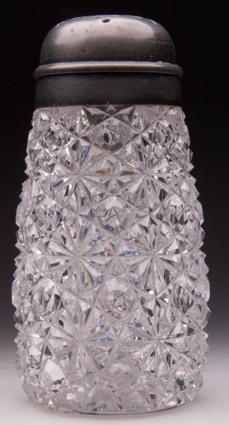 AMERICAN BRILLIANT RUSSIAN CUT GLASS SUGAR SHAKER : Lot 124