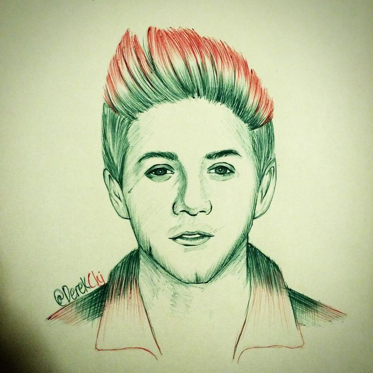 Niall hora done with green and red ballpoint