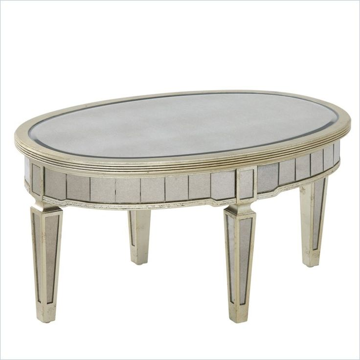 Oval Cocktail Table Fully Beveled Scratch Resistant