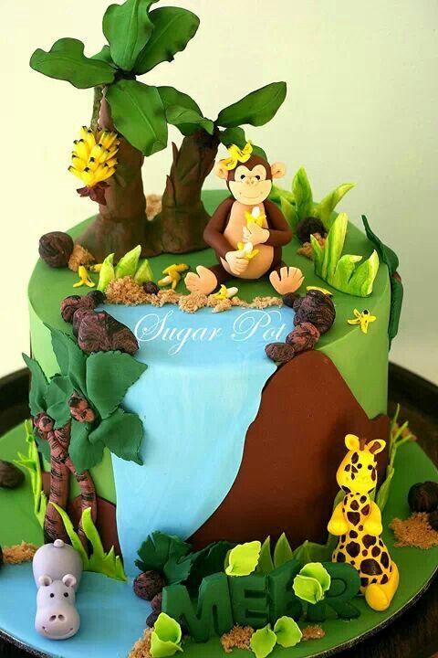 Best 25 Jungle Cake Ideas On Pinterest Jungle Safari