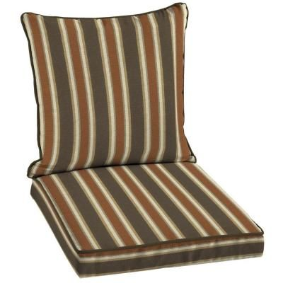 patio cushion ideas hampton bay scottsdale stripe welted 2piece outdoor deep seating cushion