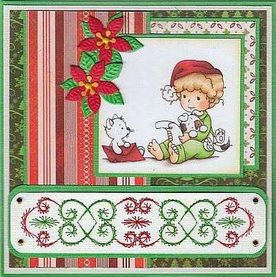 Josee's Kaartenblog: Een paar kerstkaarten. Christmas border