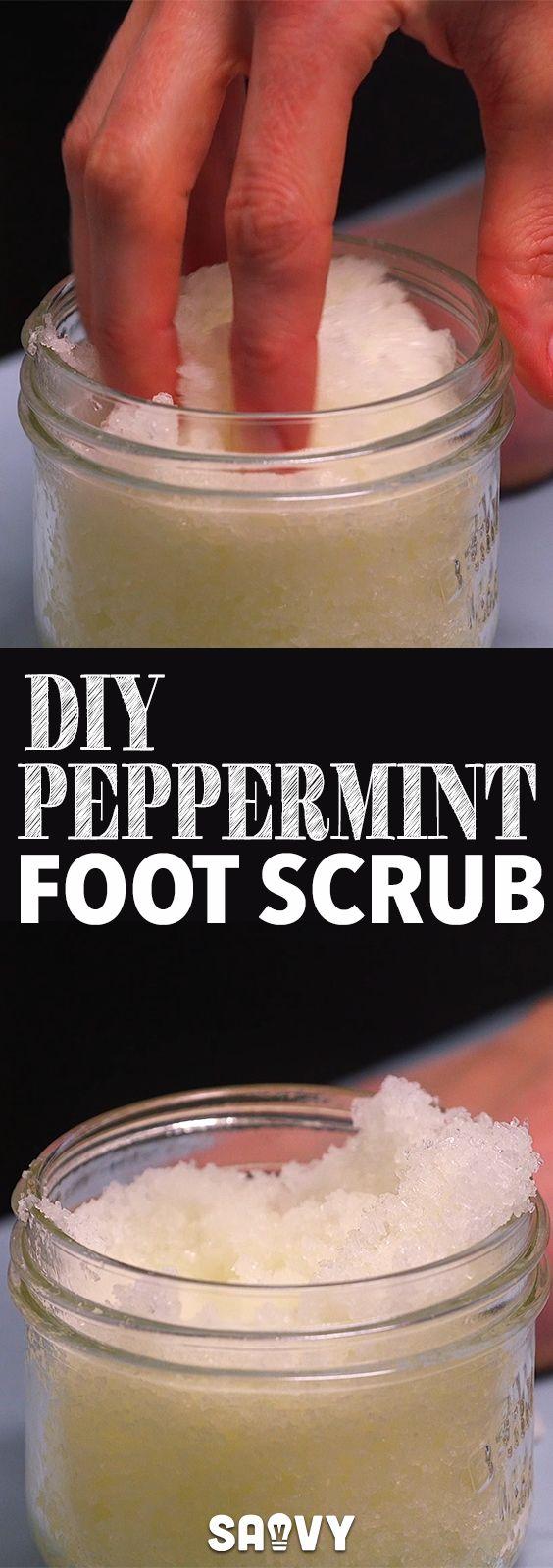 DIY Peppermint Foot Scrub