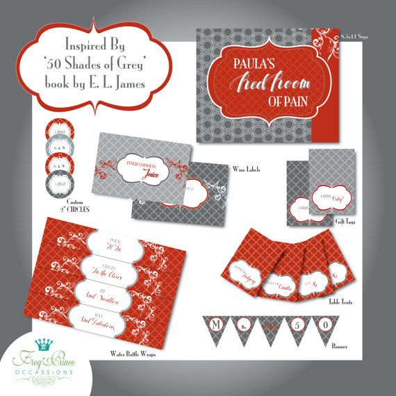 Inspired by '50 Shades of Grey' Party by FrogPrinceOccasions, $31.00