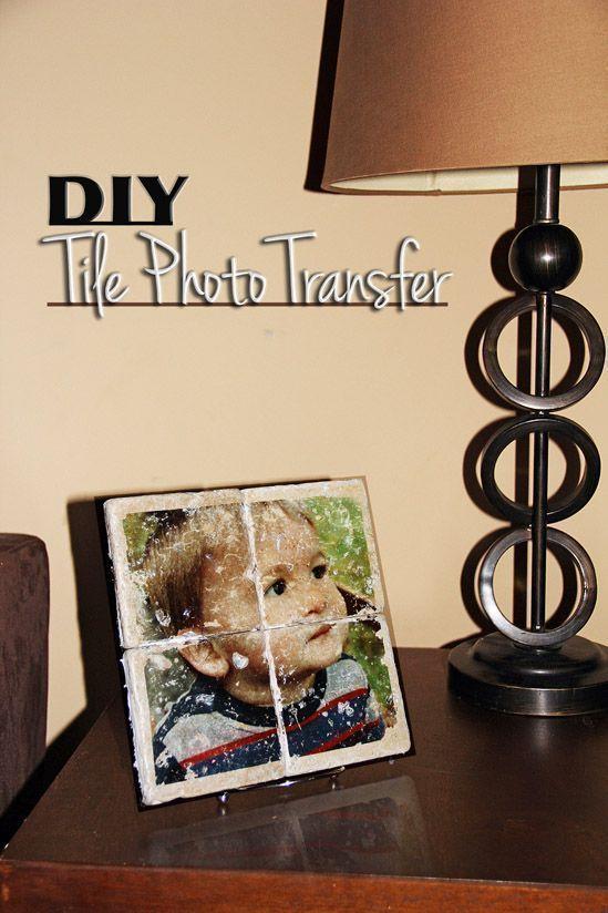DIY Photo Tile Transfer