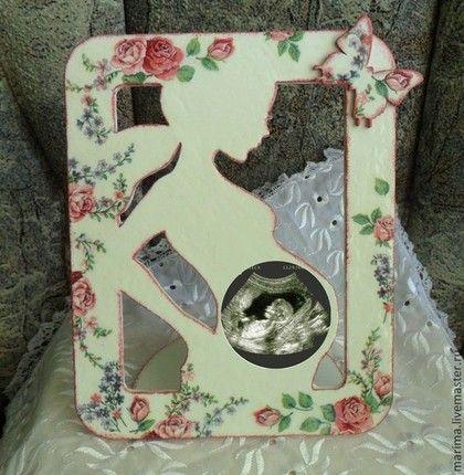 Купить Рамка для первого фото малыша (снимок УЗИ) - белый, рамка для узи