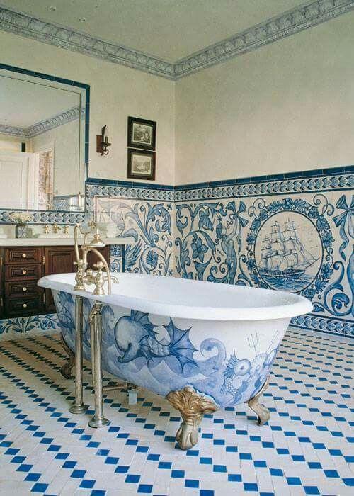 +1000 ideias sobre Banheira De Ferro Fundido no Pinterest  Banheiras, Banhei -> Banheiro Com Banheira De Ferro
