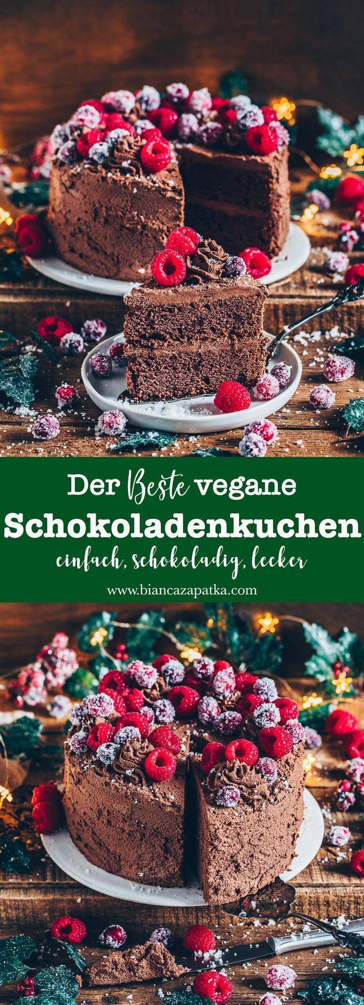 Veganer Schokoladenkuchen (Das beste Rezept – #beste #das #Rezept #Schokoladenku…