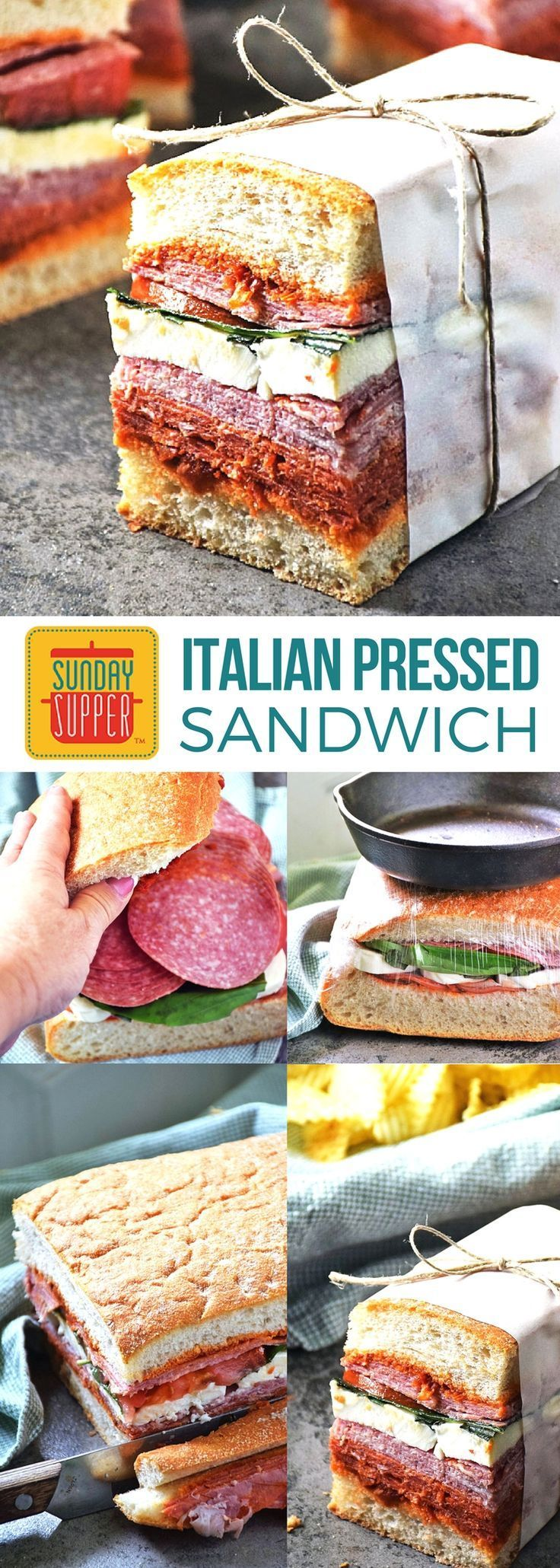 Our Italian Pressed Sandwich recipe is perfect for your busy lifestyle! A simple sandwich recipe sandwiched between hearty ciabatta bread and loaded with delicious Italian deli meats and cheese, this pressed sandwich also travels well, making it the perfe