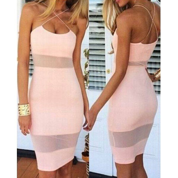 Wholesale Sexy Spaghetti Strap Candy Color Dress For Women Only $7.45 Drop Shipping