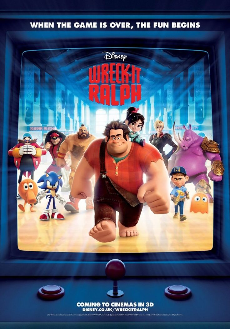 Movie Poster Inspiration: Wreck-It Ralph. I took Rhiannon to see this for her 8th Birthday. We both liked it!