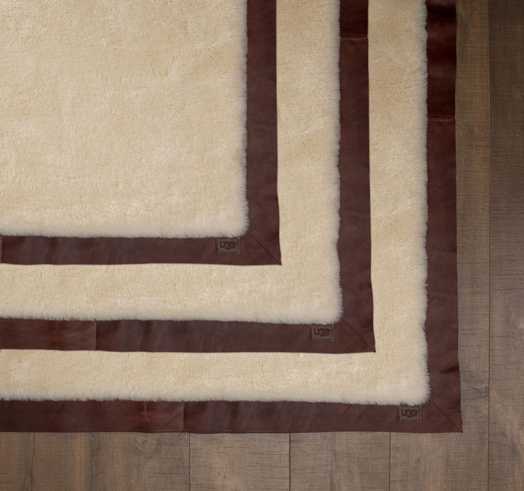 Ugg Australia S Clic Leather Bound Rug From Home The
