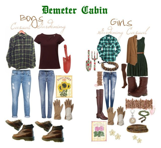 """""""Demeter Cabin : Boys and Girls : Gardening and Casual"""" by mgzzy ❤ liked on Polyvore featuring Aéropostale, GUESS, Pull&Bear, Aurélie Bidermann, Wild & Wolf, Bodhi, Home Decorators Collection, Dorothy Perkins, H&M and Skechers"""