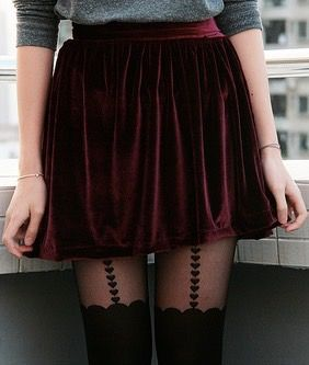 Velvet Skirt - Teen Fashion This is so pretty I love skirts, I just can't wear them only because I'm afraid to wear anything above my knees...