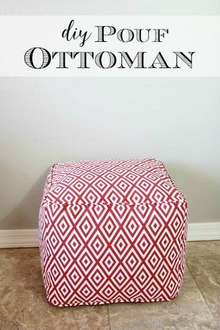 Hey everyone! It's Katie again from Addicted 2 DIY. Today, I have (1) a tutorial on how to make a fun DIY pouf ottoman and (2) a few lessons I learned while I was making mine that will help you out wh