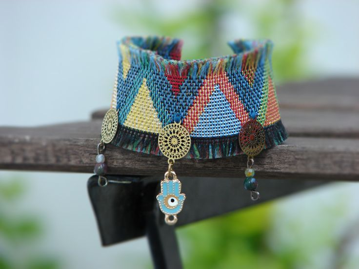 Jewellery, bohemian, hippy, crochet bracelet, handmade bracelet, Bohemian Bracelet, ethnic bracelet boho, beach jewelry, bohemian collection, Necklaces, Charm Necklaces, Fabric bracelet, Fabric necklace, aztec fabric,  handmade jewellery, beach bracelet, beach necklace, greece, greek island