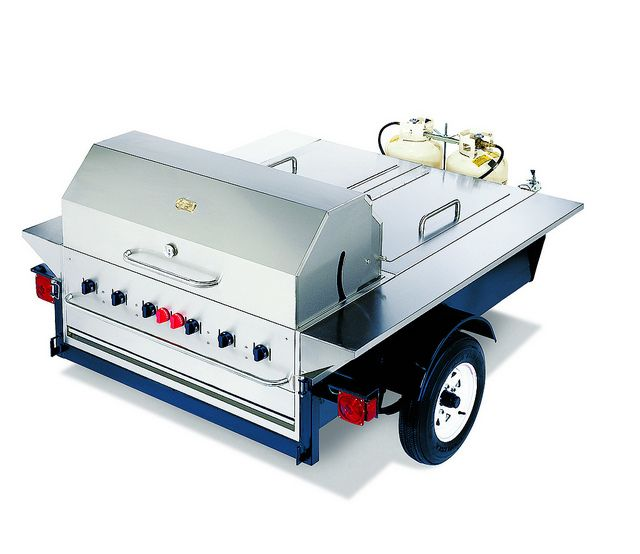 Towable Tailgating Trailer Grill/BBQ Perfect for Tailgate Parties, Camping, Sports Events & More #Ultimate Tailgate #Fanatics