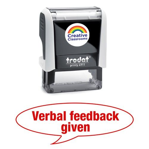 Verbal feedback given | Stamps