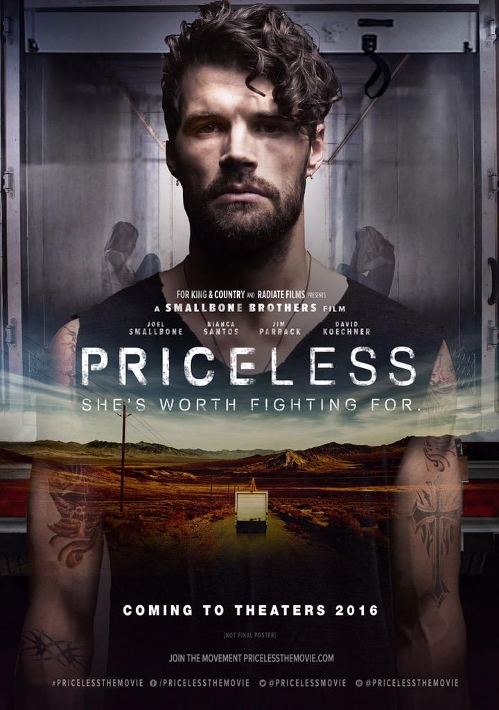 """For KING & COUNTRY have announced some pretty big news, an upcoming motion picture is in the works! """"Priceless: She's Worth Fighting For"""" will star Joel Smallbone (for KING & COUNTRY), Bianca Santos (""""The Duff""""), Jim Parrack (""""True Blood""""), and David Koechner ("""