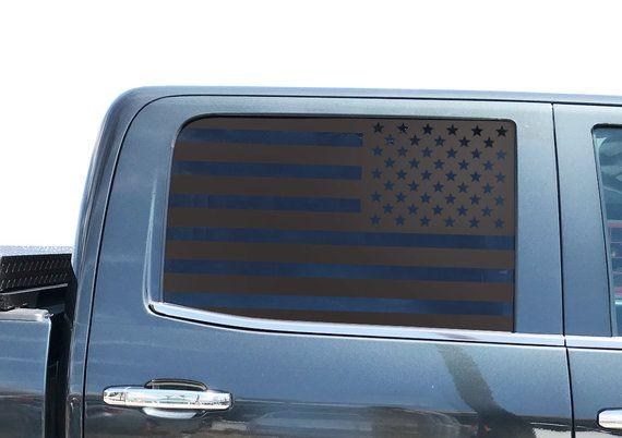American Flag Decal Set For Chevy Silverado Crew Cab Door Windows Gm2 American Flag Decal Flag Decal Silverado Crew Cab