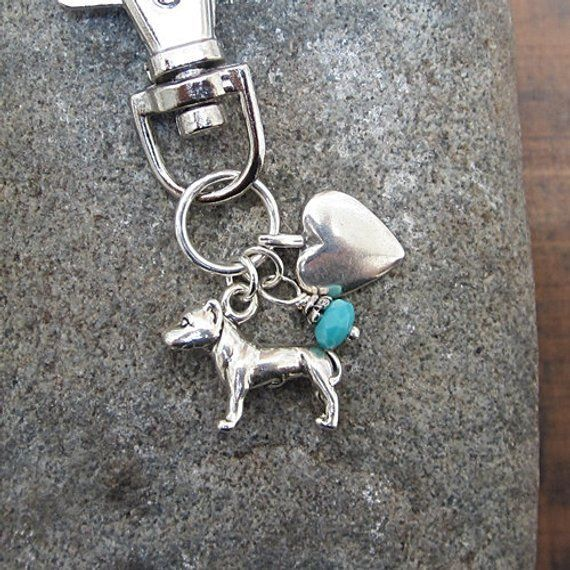 Pitbull Sterling Silver Dangle Dog Charms