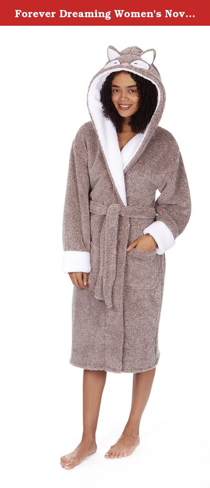 Forever Dreaming Women's Novelty Fleece Hooded Bathrobe. Keep snug and warm over winter with these unique bath robes from Forever Dreaming! These make an excellent gift for loved ones and can be worn throughout the year! Made from a 100% flannel fleece Polyester meaning these are super soft, strong, light weight, and resistant to shrinking, stretching, mildew and creasing! Available in various sizes, and in 2 remarkable designs (fox) or (owl). Featuring a hooded design, two pockets and a...