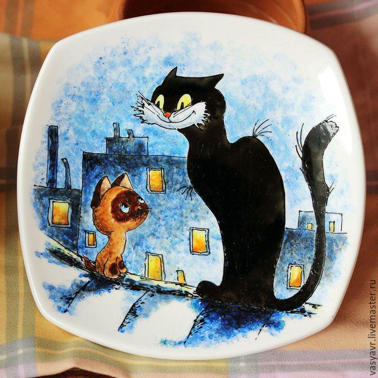 Купить Котенок Гав (Тарелка и пиала) - котенок, щенок ...
