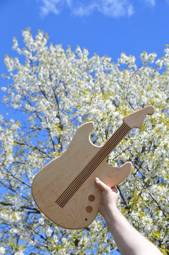 Unique Guitar Cutting Board Handmade in Nova Scotia