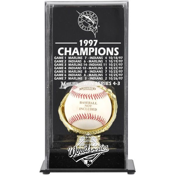 Miami Marlins Fanatics Authentic 1997 World Series Champions Baseball Display Case - $49.99