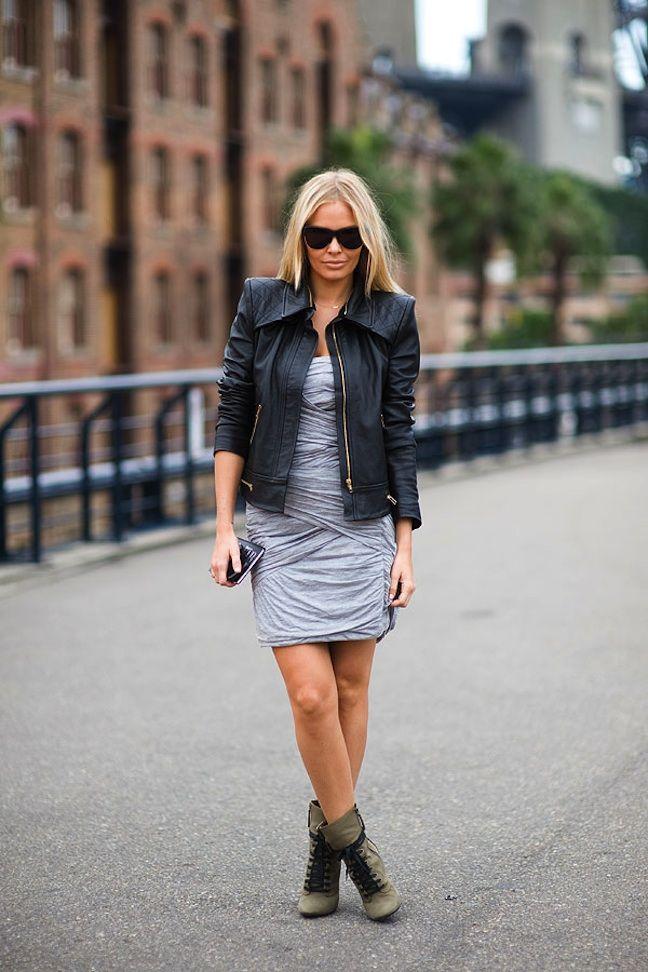 Lara Bingle. Loving the chic street style.