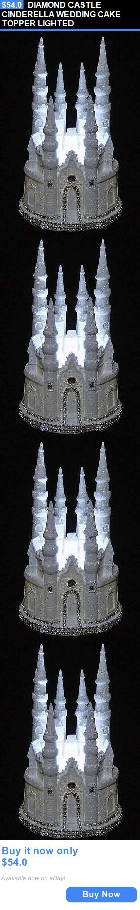 Wedding Cakes Toppers: Diamond Castle Cinderella Wedding Cake Topper Lighted BUY IT NOW ONLY: $54.0