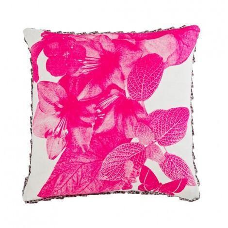 Bonnie & Neil - Tropical Floral Pink Cushion #worthynzhomeware wwworthy.co.nz