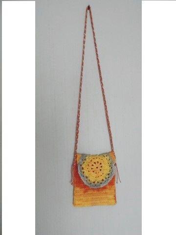 hačkovaná kapsička na doklady, peňaženku... FB handmade by inush