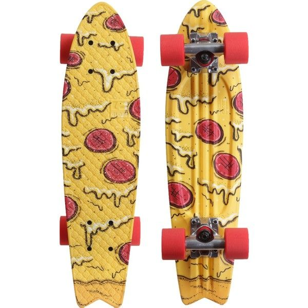 """Globe Bantam Graphic ST 23"""" Plastic Skateboard Complete ❤ liked on Polyvore featuring skateboards, fillers, accessories, skate and board"""