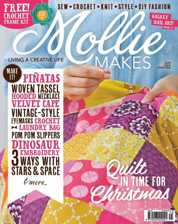 Your project templates for Mollie Makes issue 45 are ready to download