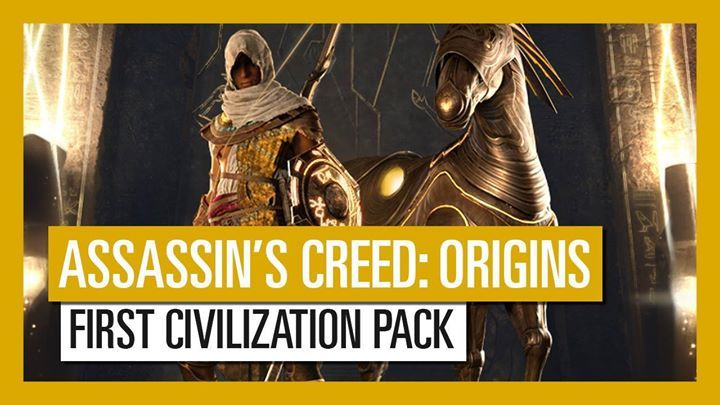 Harness the powers of the First Civilization with the latest Assassin's Creed Origins gear pack. This pack includes a mount, a shield, a hunter bow, dual swords, and a heavy blunt weapon. #AssassinsCreedUniverse #AssassinsMarket #GeekVerse #assassinscreed #assassins #assassin #ac #assassinscreeed2 #assassinscreedbrotherhood #assassinscreedrevelations #assassinscreed3 #assassinscreedblackflag #assassinscreedrogue #assassinscreedunity #assassinscreedsyndicate #altairibnlaahad #ezioauditore #co