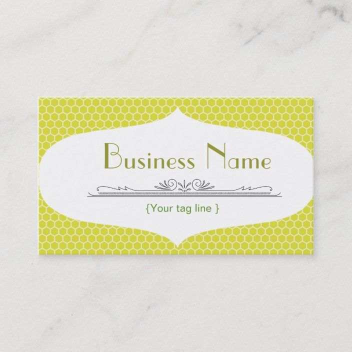Funky Bee Business Card Template Zazzle Com Business Card Template Card Template Business Card Design