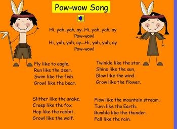 This is a cute song that I do with my students on our indian dress up day around Thanksgiving time. I do not know the origin of the song but my stu...