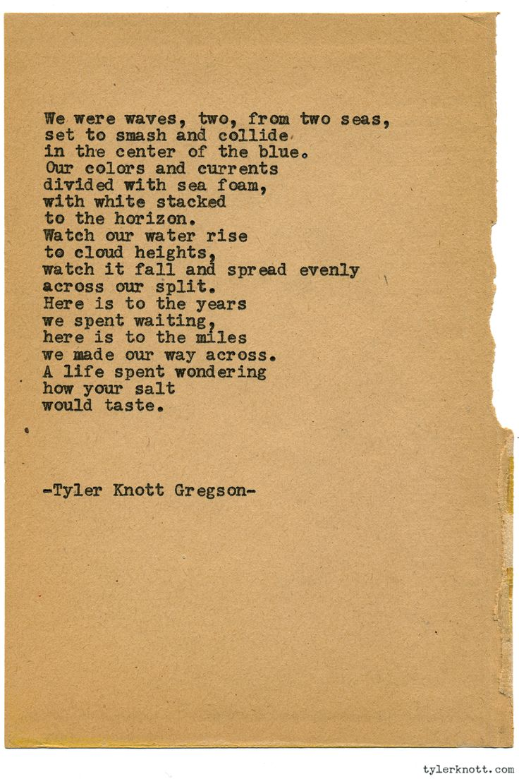 Typewriter Series #1508 by Tyler Knott Gregson Chasers of the Light & All The Words Are Yours are Out Now!