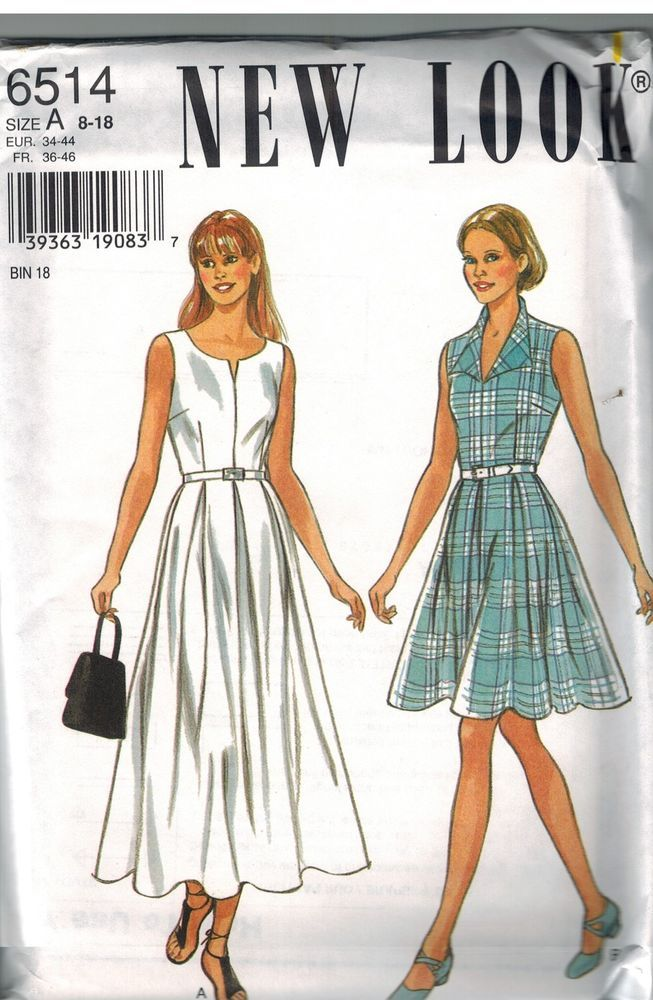 6514 UNCUT New Look Sewing Pattern Misses Dress Easy ...