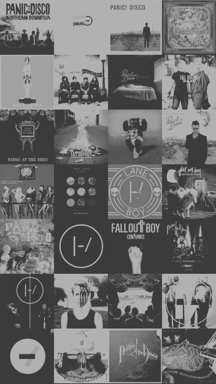 Twenty One Pilots, Panic at the Disco, Fall Put Boy, and My Chemical Romance phone wallpaper