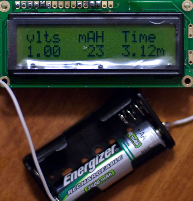Arduino battery capacity tester