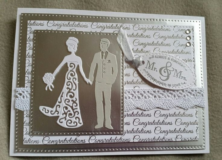 Silver &Wiite Wedding Day Card